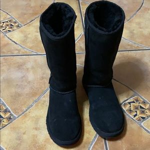 Black authentic UGG tall boots.